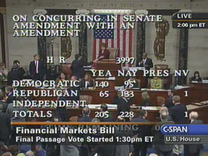 CSPAN House Vote