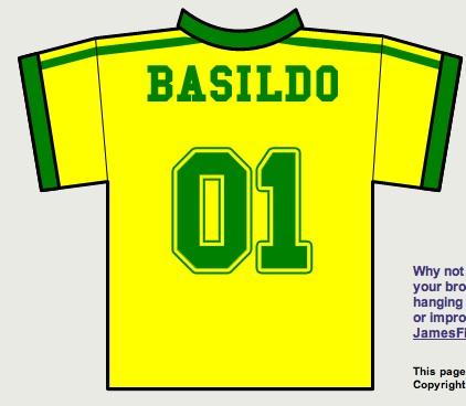 World Cup Fun: Brazil Jersey Name Generator (TheBasisPoint