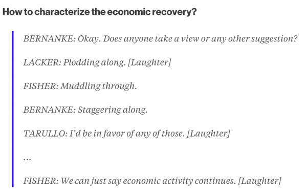How to characterize the economic recovery