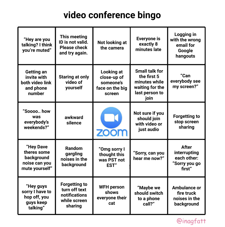 Conference call Bingo & 3 reasons Zoom is genius