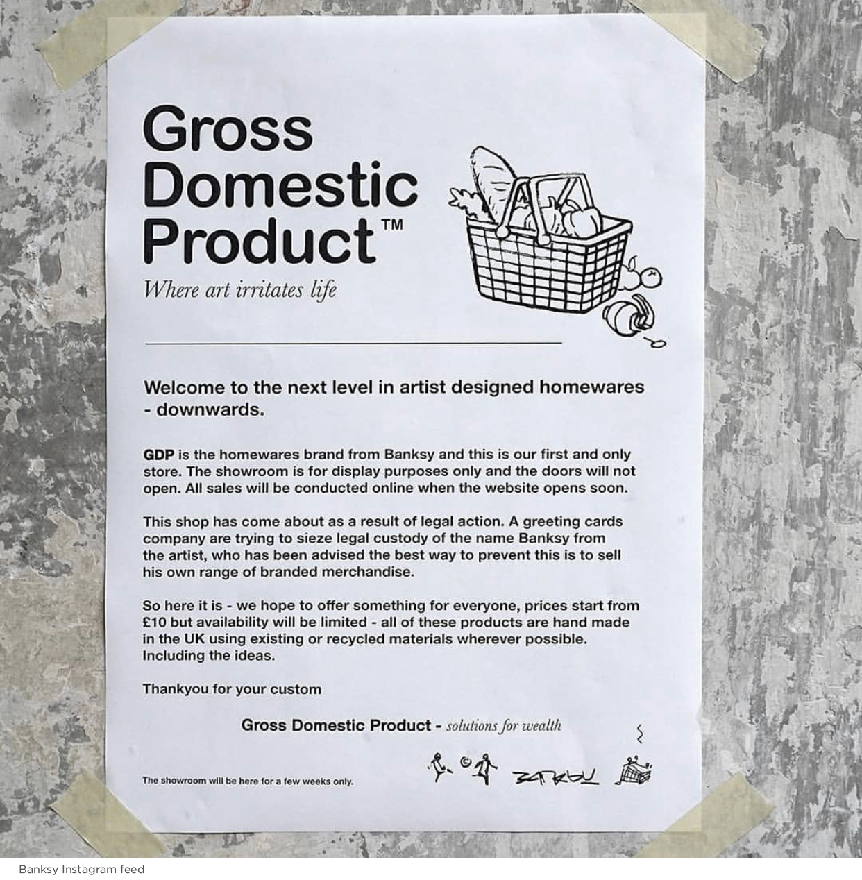 Banksy Gross Domestic Product Store Trademark Defense The Basis Point