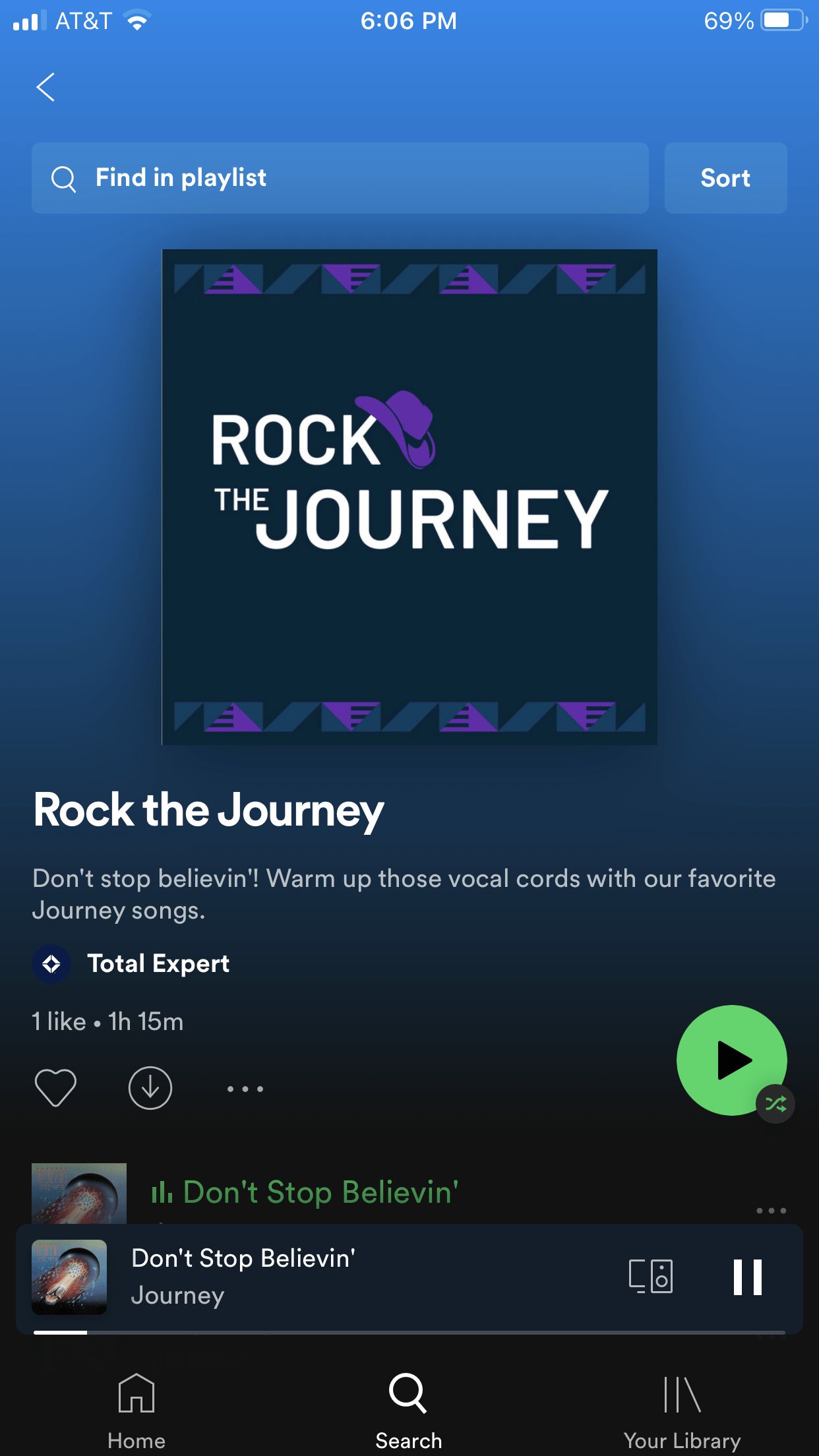 Total Expert Accelerate - gift 4 - Journey playlist